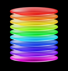 Abstract colorful cylinder vector image