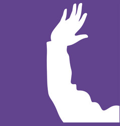 abstraction of hands and faces vector image