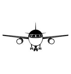 Airplane frontview icon image vector