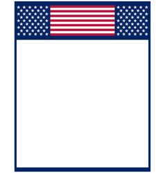 american flag symbols decorative frame border vector image