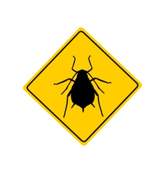 Aphid warning sign vector image