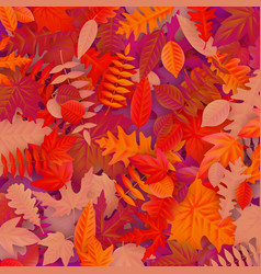 background of colored wet autumnal maple leaves vector image