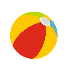 beach ball icon flat style vector image