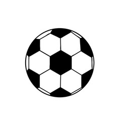 black silhouette soccer ball element sport vector image