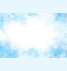 blue watercolor splash background eps10 vector image