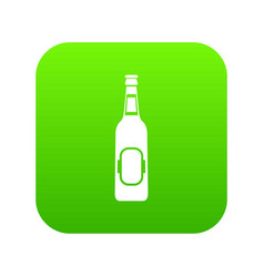 bottle of beer icon digital green vector image