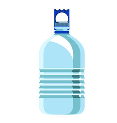 bottle with handle for potable water on white vector image
