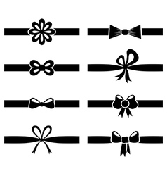 bow ribbon set vector image