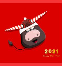 bull is a symbol 2021 zodiac taurus year vector image