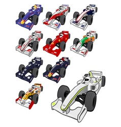 cartoon formula one vector image