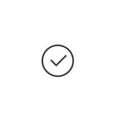 check mark icon line style vector image