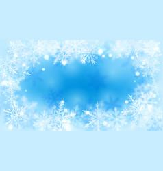 Christmas background defocused snowflakes vector