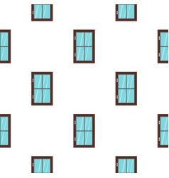 Closed brown window pattern flat vector