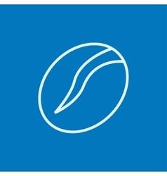 Coffee bean line icon vector image