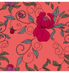 colorful floral seamless wallpaper vector image vector image