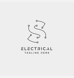 Connect or electrical logo design icon element vector
