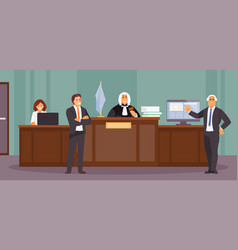 Courtroom session vector