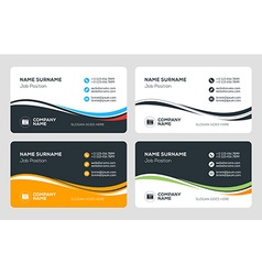 Creative business card template flat design vector