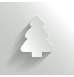 Creative White Christmas Tree vector image