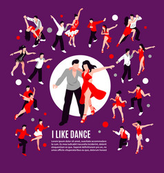 Dance isometric people composition vector