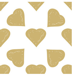 Decorative seamless pattern with hearts vector