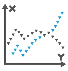 Dotted Functions Plot Flat Symbol vector image