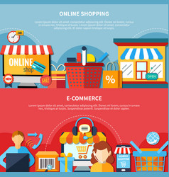 E-commerce flyer set vector