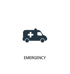 emergency icon simple element vector image