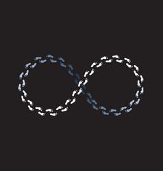 endless mobius loop white foot steps vector image