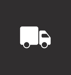 Fast shipping delivery truck line icon design vector