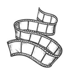 Filmstrip for old video camera monochrome vector