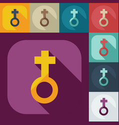 Flat modern design with shadow icons female vector