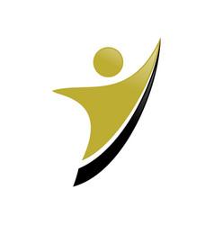 Golden success way abstract figure symbol design vector
