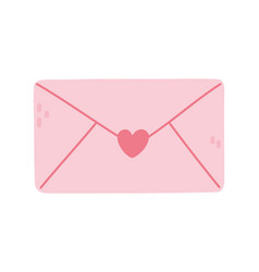 happy valentines day pink envelope message letter vector image