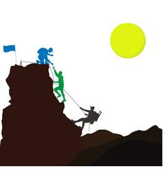 Hiking team vector