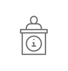 information desk help mark line icon vector image