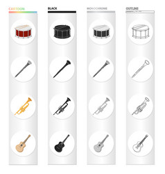 instruments entertainment musician and other web vector image