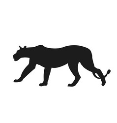 lioness silhouette vector image