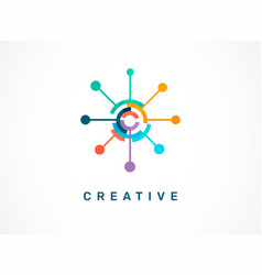 Logo - creative technology tech icon and symbol vector