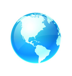logo earth planet vector image