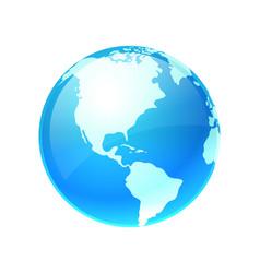 logo earth planet vector image