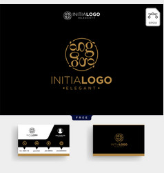 luxury gold initial g logo template and business vector image
