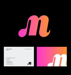 m monogram pink web network digital business vector image