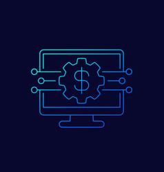 money management financial audit line icon vector image