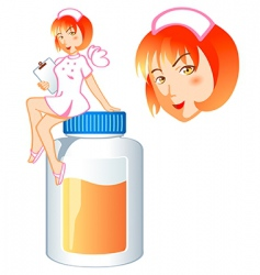 Nurse pill fairy vector