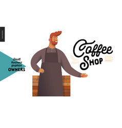 Owners - small business graphics - coffee shop vector