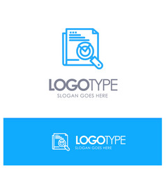 page search web page search layout blue outline vector image