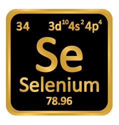 Periodic table element selenium icon vector