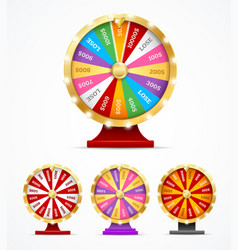 realistic 3d detailed casino fortune wheel set vector image
