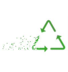 Recycling triangle destructed pixel icon vector